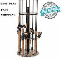 Fishing Rods Racks Standing Organizer Holder Floor Round Storage Pole Rod Gear