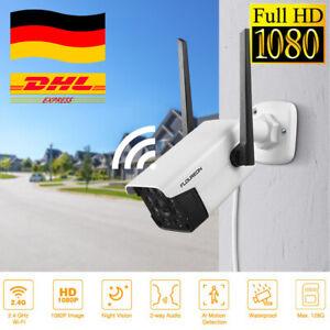 HD 1080P IP NETZWERK CAMERA AUßEN ÜBERWACHUNGSKAMERA Outdoor FUNK WLAN DOME CCTV