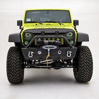 Rock Crawler Stubby Front Bumper+OE Fog Light Housing for 07-18 Jeep JK Wrangler