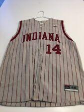 Game Worn Used Indiana Hoosiers Baseball Jersey Nike Size 46 #14