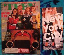Teen magazine August 1975 Fashion  Beauty Entertainment W  Seventeen Ads ! YM