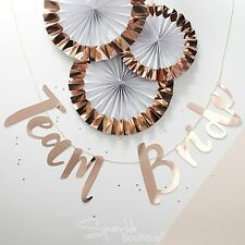 TEAM BRIDE BUNTING / Garland / Banner - Rose Gold/Pink Hen Party/Do Decoration