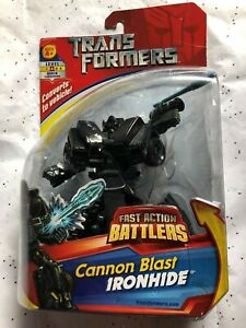 NEW Hasbro Transformers Fast Action Battlers Cannon Blast IRONHIDE FIGURE