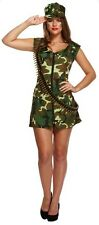 Women Women's Sexy Army Girl One Size Fancy Dress Costume Hen Night Party