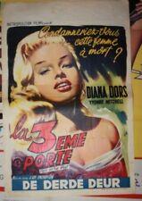 The Blonde Sinner Belgium Diane Dors 1 Sheet Original Vintage Movie Poster 1956