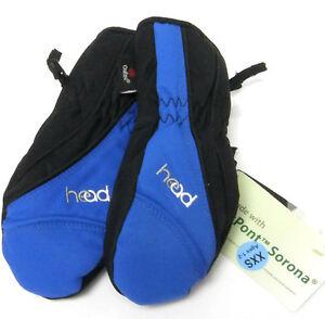 HEAD Junior Insulated MITTENS Fleece Lined Ski Gloves BLUE Toddler XXS 1-2 Yrs