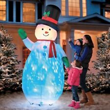 ON SALE - 7-1/2' Kaleidoscope Airblown Snowman Christmas Outdoor Inflatable