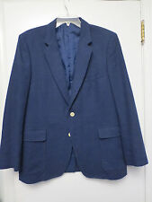 VINTAGE JORDACHE NAVY BLUE SPORTS COAT JACKET BLAZER MENS 44R