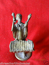 World Rare Vintage African Tribal People Liberian Hand Carved Brass Fine Art #05
