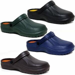 Mens Ladies Garden Mules Nursing Beach Sandals Hospital Rubber Pool Summer Shoes