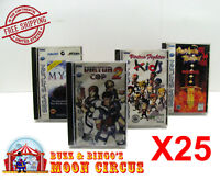 25x SEGA SATURN CIB GAME - CLEAR PLASTIC PROTECTIVE BOX PROTECTOR SLEEVE CASE