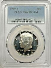 1969 S Proof Kennedy Half Dollar PCGS PR68 DCAM Silver Registry Coin
