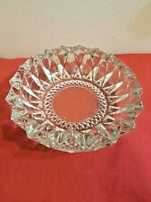 KIG Indonesia Pressed Glass Ashtray Coin Dish Diamond Crystal Pattern