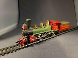 Vintage Tyco Atchison Topeka & Santa Fe AT&SF Steam Locomotive w/Tender HO