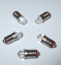 LED Ersatzlampen (Märklin 600200 / 600100) E5.5 16-22V  -  5 Stück   NEU