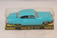 Norev 19 Jaguar MK 10 turquoise plastique very very near mint in box superb