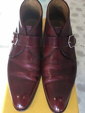 John Lobb Highgate Red Museum Ankle Monk Boots Size Size 7.5 E. Excellent.