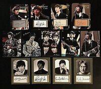 The Beatles 13 Card Lot. Paul McCartney, George Harrison, John Lennon Ringo Star