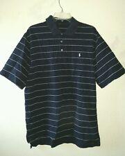 Nice Polo Golf Ralph Lauren Size L Polo Shirt Navy Blue White Striped Cottton