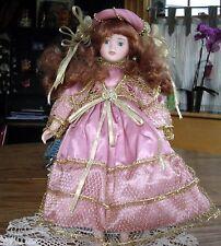 "Connisseur Seymour Mann 15"" Doll Porcelain Pink Angel w/Stand ~"