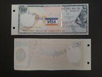 1 Visa Travellers Cheque BNL da 50 sterline - usato e annullato, bellissimo!