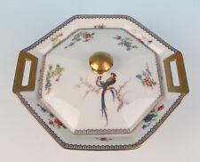 Haviland Limoges Paradise TUREEN Blue Eden Bird French Service Porcelain China