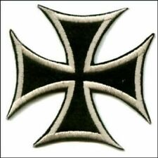IRON CROSS PATCH EMBROIDERED maltese cross outlaw biker chopper motorcycle vest