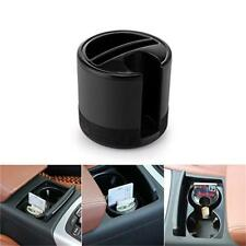 Car Cup Plastic Coin Case Storage Box Holder Container Organizer - Black 1PC LG