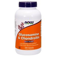 NOW Foods Glucosamine & Chondroitin w/Trace Minerals, 240 Capsules