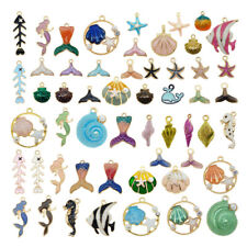 10pcs Mixed Assorted Seastar Fish Shell Mermaid Pendant Charms DIY Accessories