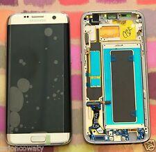 Oro Genuino Samsung SM-G935F Galaxy S7 Edge De PANTALLA AMOLED PANTALLA LCD 2k Marco
