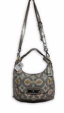 NWT Coach Kristin Op Art Ikat Silver Grey Print Hobo Handbag F16936 MSRP $298