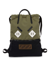 8cad21dadb 100% AUTHENTIC NEW FENDI MEN ANGRY EYES GREEN BACKPACK TOTE BAG