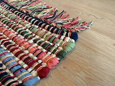 Rainbow Rag Rugs Handwoven Recycled Cotton Materials