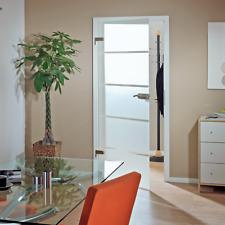 Glastür Zimmertür Innentür Tür inkl. Beschlagset Komplett-Set 834 x 1972 mm
