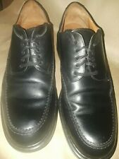 Johnston and Murphy Passport Black Leather Oxfords Mens Shoes 11 11M