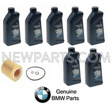 For BMW E82 E90 Set of 7 Oil Botles 5w30 & 1 Engine Oil Filter Genuine