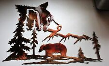 """Bears in the Mountains Metal Wall Art  20"""" x 15 1/2"""""""