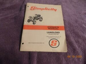 Vintage Simplicity Landlord Riding Tractor Owner's And Parts Manual
