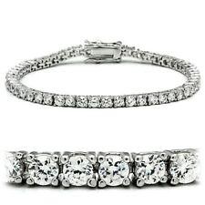 Tennis Bracelet D/VVS1 3.00Ct Diamond Prong Set 14k White gold over