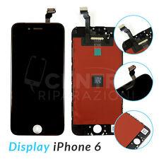 TOUCH SCREEN LCD DISPLAY RETINA + FRAME PER APPLE IPHONE 6 VETRO SCHERMO NERO