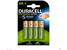 Pilas AA - Duracell Recharge Ultra, Recargables, 2500 mAh, 4 Uds