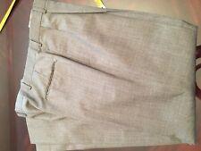 Men's Pleated Austin Reed Gray Grey Wool Pants Slacks Dress Pleated 35x32 GUC