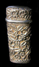 Match Safe, Floral Repousse, Sterling