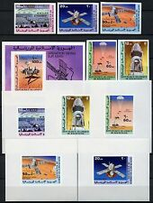 Space Raumfahrt 1977 Mauritania Mauretanien 552-556 Block 16 + Deluxe U MNH/1156