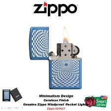 Zippo Minimalism Design Pocket Lighter, Blue Cerulean Finish #29427