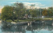 Rochester Minnesota~Stone-Lined Pond in Public Park~1910 Postcard