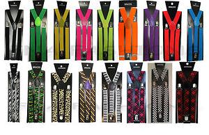 Unisex Adjustable Slim Braces Trouser Suspenders Clip On Fancy Dress