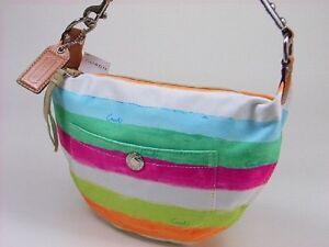 Coach Hampton Watercolor Stripe Small Hobo Bag New With Tags*