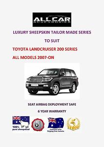 Tailor Made to fit Toyota Landcruiser 200 Series Sheepskin Car Seat covers.